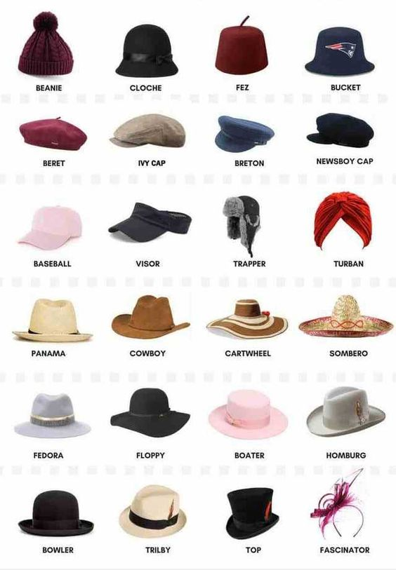 TRAVEL HACKS THAT EVERY GIRL NEEDS TO KNOW- types of hats